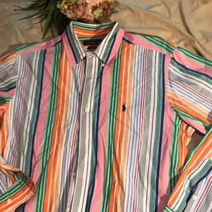 Men's like new button up by Polo Ralph Lauren med